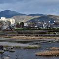 Photos: 2020_0209_155807 人影もまばらな鴨川デルタと比叡山