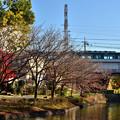 Photos: 2020_1206_145838 濠川を渡る京阪電車