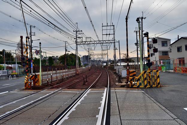 2021_0111_140950 三和踏切から大阪側を見る。