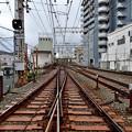 2020_1128_134431 香里学校道踏切の大阪方をみる。