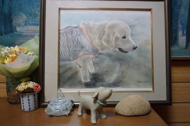 くん子のパステル画