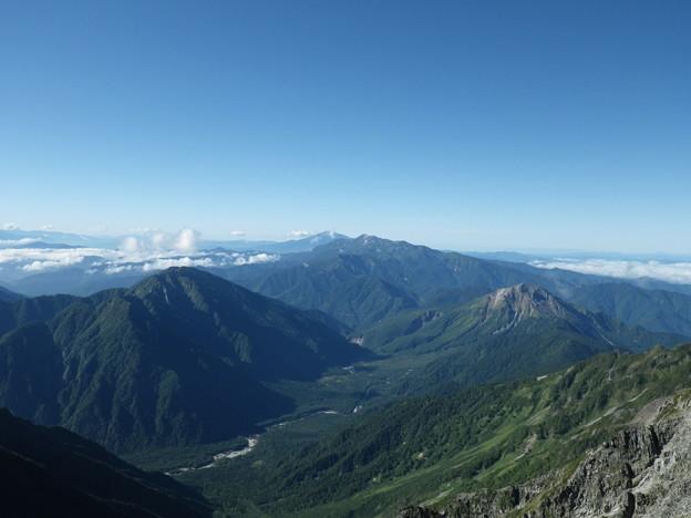 霞沢岳と焼岳