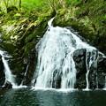 湯ノ岳・扇状の滝