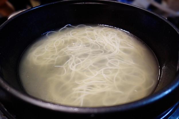 写真: 鶏煮込みスープ素麺
