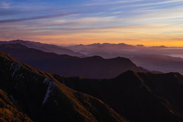 常念岳からの景色