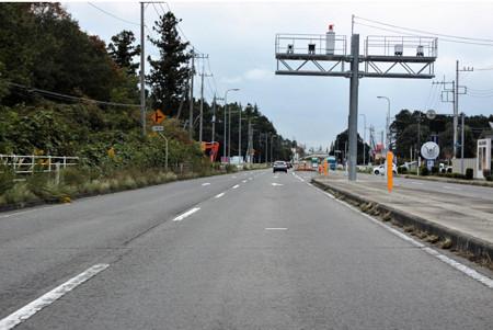 国道4号線にレーダーの効かない新規オービス設置