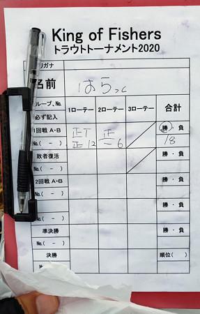 20' キングフィッシャー・トラウトトーナメント第4戦