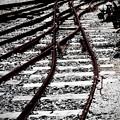 写真: 錆びた線路