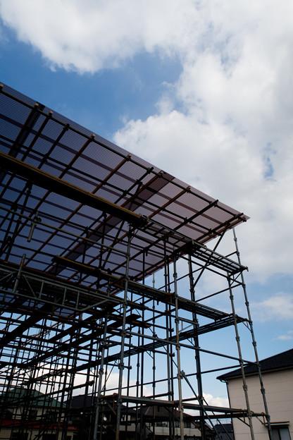 建築現場の空