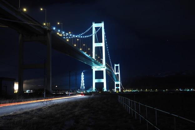 ライブコンポジット白鳥大橋