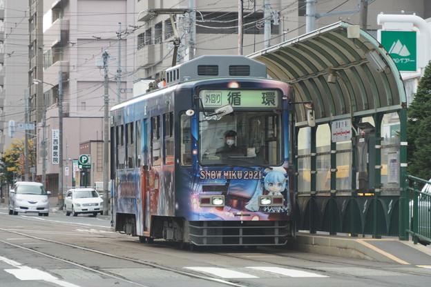 札幌市電 雪ミクバージョン