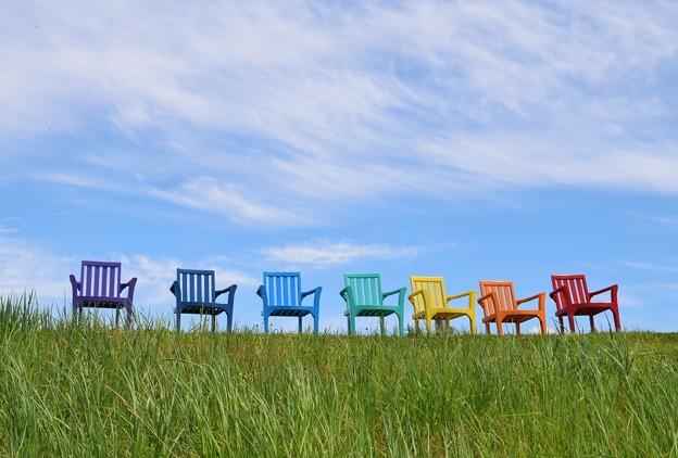 虹色のベンチ