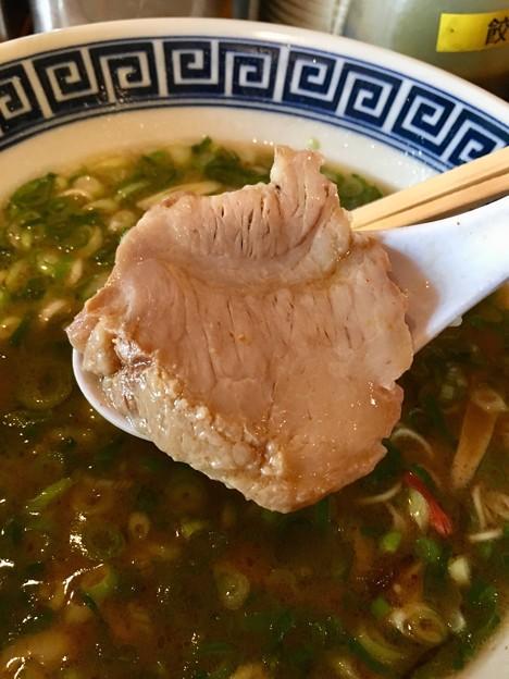 御天 井草本店、ネギラーメンのチャーシュー