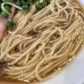 Photos: 中華そば向日葵、海老SOBAの麺