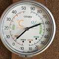写真: 今日正午の室内の気温