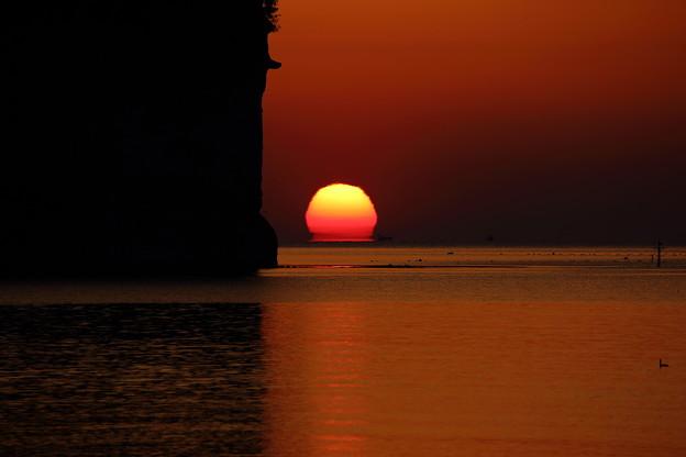 写真: 阿尾海岸の日の出 IMG_2030