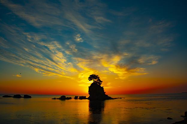 雨晴海岸日の出 IMG_8090