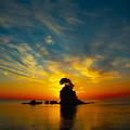 写真: 雨晴海岸日の出 IMG_8090