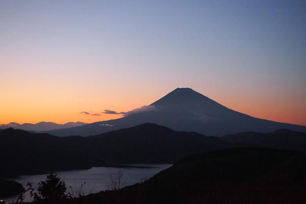 箱根の夕陽