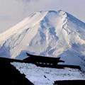 厳冬期の富士