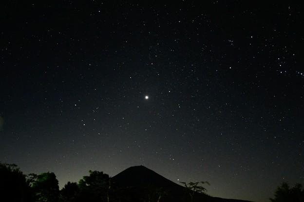 Photos: 満天の星と富士