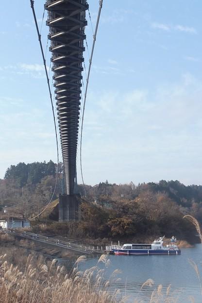 水の郷大吊り橋(裏)