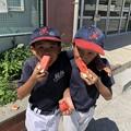 2018年7月15・16日(連休)Cチーム、校庭練習でのワンシーン