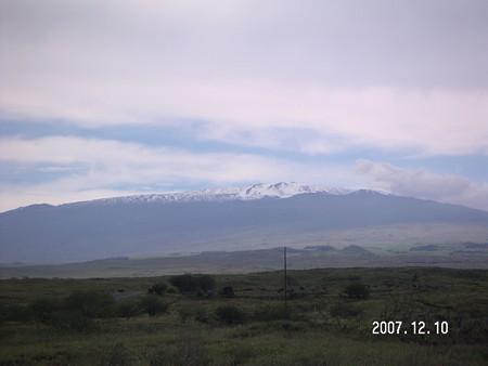 雪がきれいなマウナケア