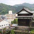 そびえ立つ櫓(臼杵城公園)