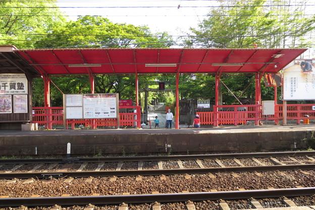 嵐電車折神社駅