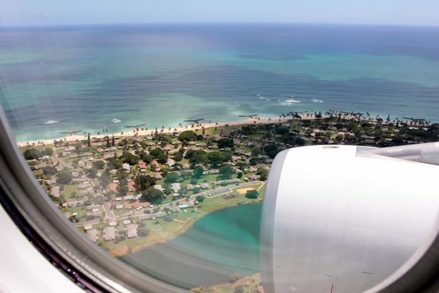 Photos: ホノルル上空