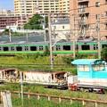 Photos: 保守車と東海道線