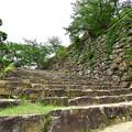 本丸への大石段