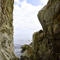 Photos: 明神岬 花崗岩の岩場