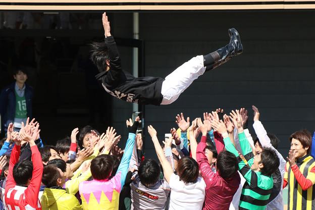 写真: 二本柳 壮 騎手 引退セレモニー_2(18/03/31)