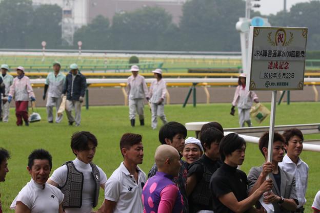 林 満明 騎手 引退セレモニー_2(18/06/23・第20回 東京ジャンプステークス)