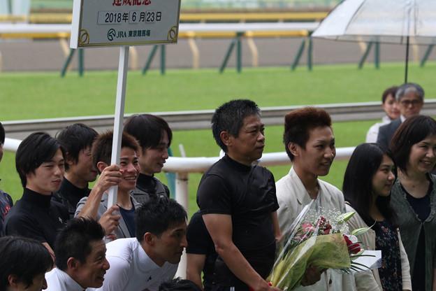 林 満明 騎手 引退セレモニー_4(18/06/23・第20回 東京ジャンプステークス)