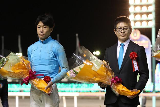 森 泰斗 騎手と水野 貴史 調教師(19/02/20・第55回 報知グランプリカップ)