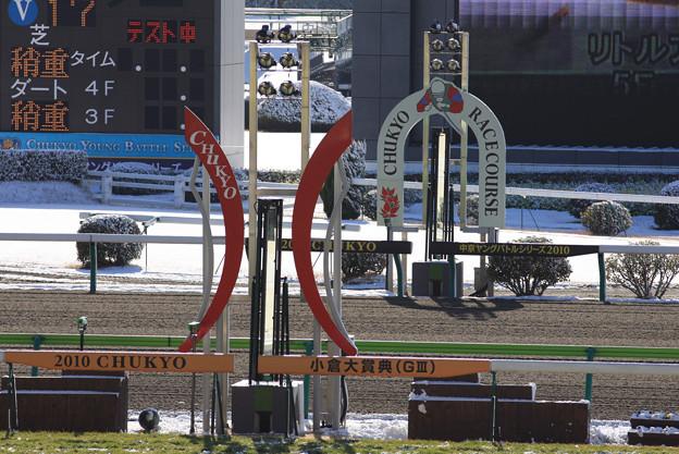 中京競馬場 ゴール板(10/02/06)