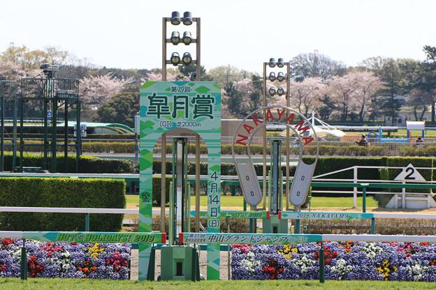 中山競馬場 ゴール板(19/04/13)