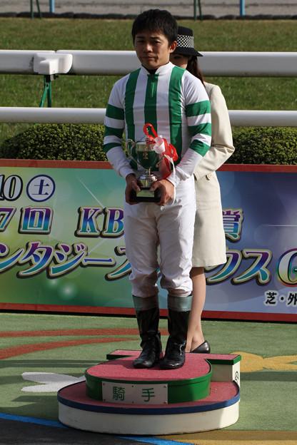 Photos: 植野 貴也 騎手(12/11/10・第14回 京都ジャンプステークス)