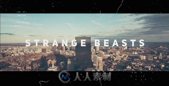 炫酷故障闪烁效果城市宣传片视频包装AE模板Videohive Strange Beasts