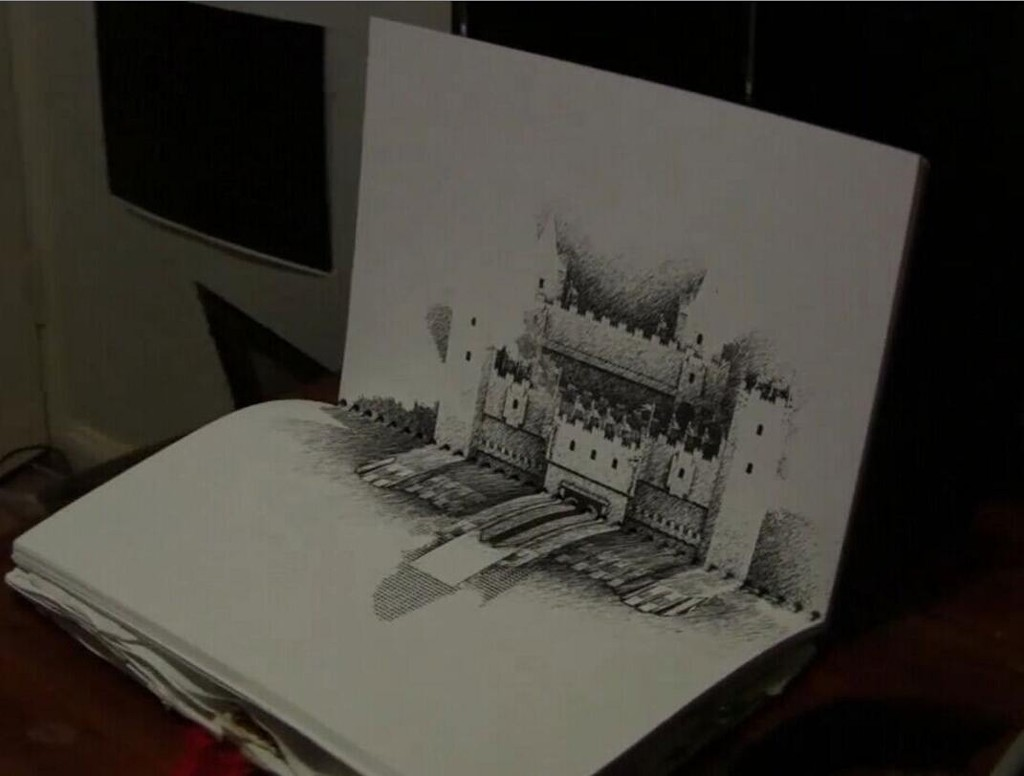 AE+MAYA实景合成制作仿真3D城堡素描材质真实场景视频教程含工程