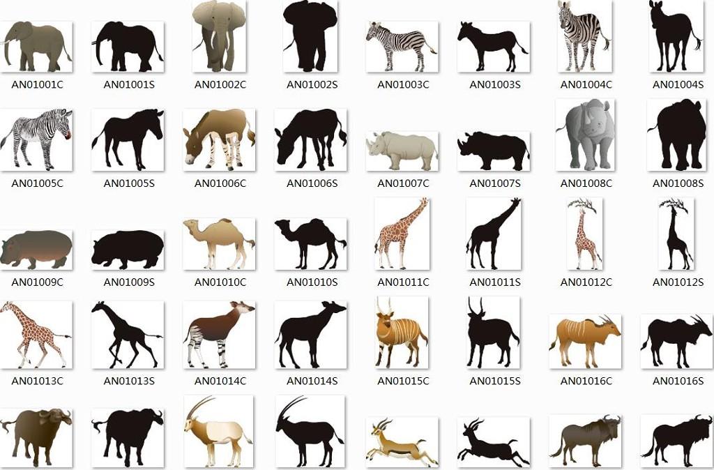 精美AI动物分层素材