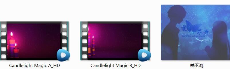 2款紫色魔法烛光视频素材