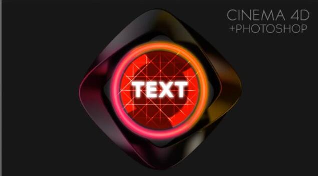 用C4D和PS制作一个酷炫的按钮图标视频教程