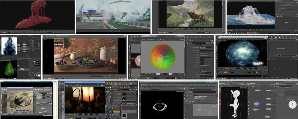 CmiVFX Houdini教程合集-建模灯光材质渲染粒子流体群集教程