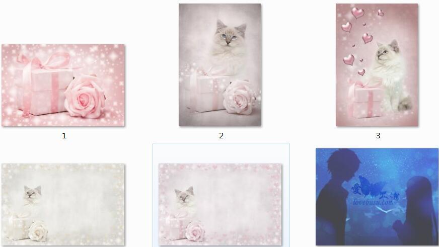 淡雅粉色情人节装饰高清图片素材