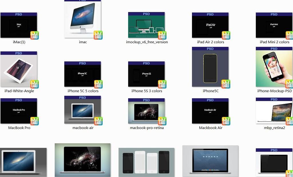 所有苹果设备psd素材