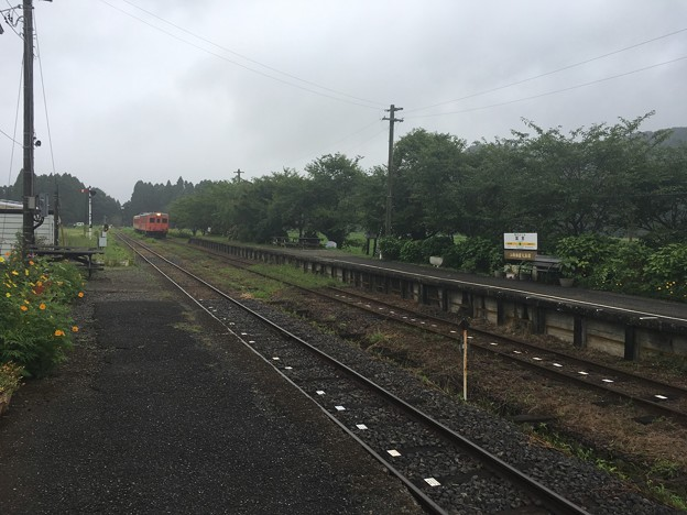 いすみ鉄道 キハ52、キハ28 国吉駅
